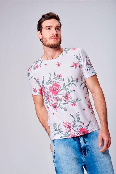 Camiseta-com-Estampa-Floral-Unissex-Frente--