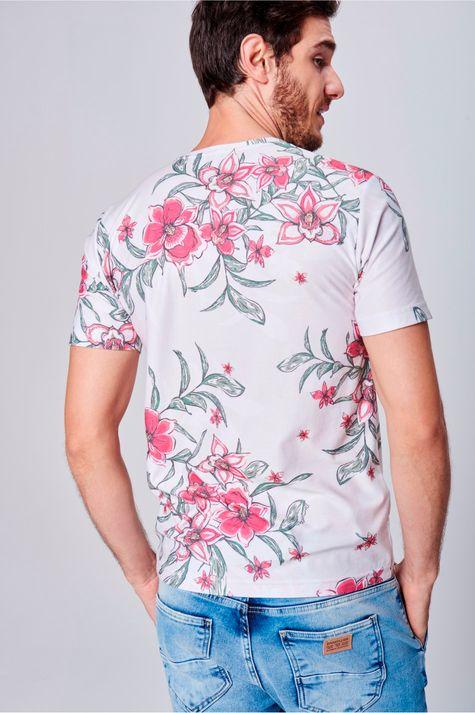 Camiseta-com-Estampa-Floral-Unissex-Costas--