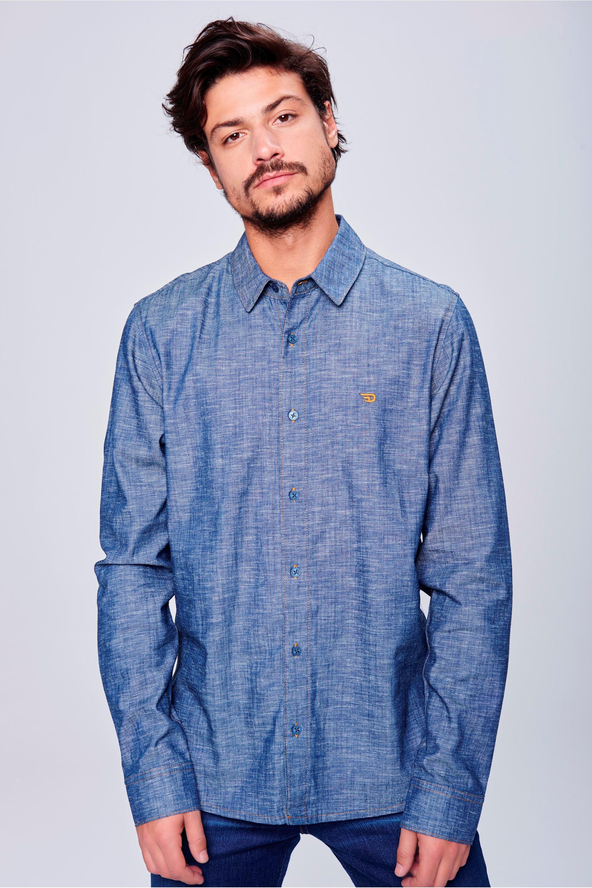 ac4f903cb0 Camisa Jeans Masculina Ecodamyller - Damyller