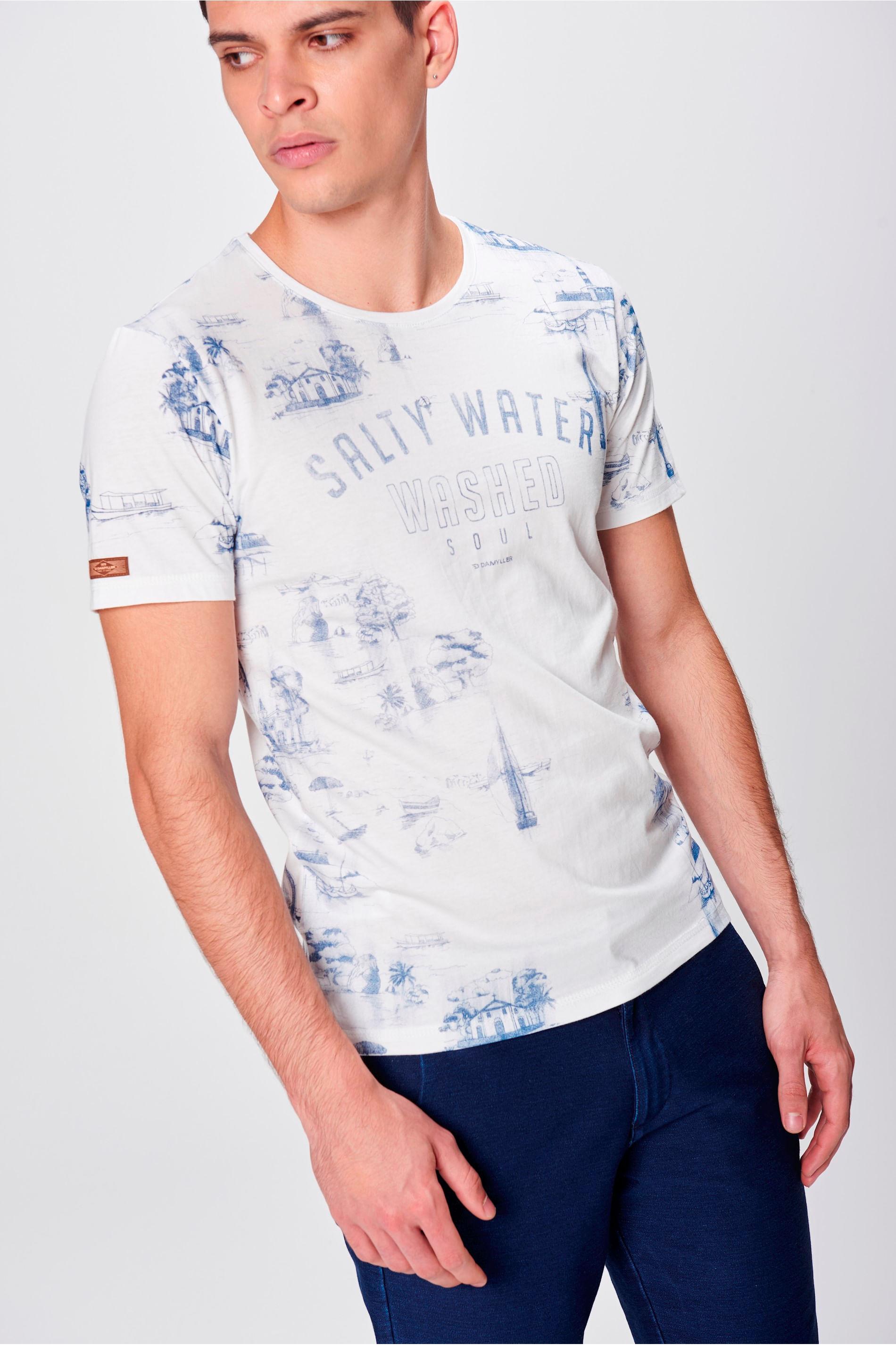 Camiseta Estampada Masculina - Damyller f923a6c90ac