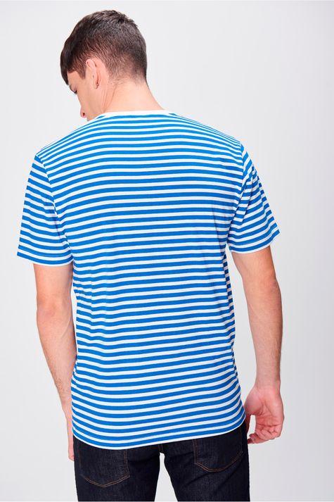 Camiseta-Listrada-com-Colar-Masculina-Costas--