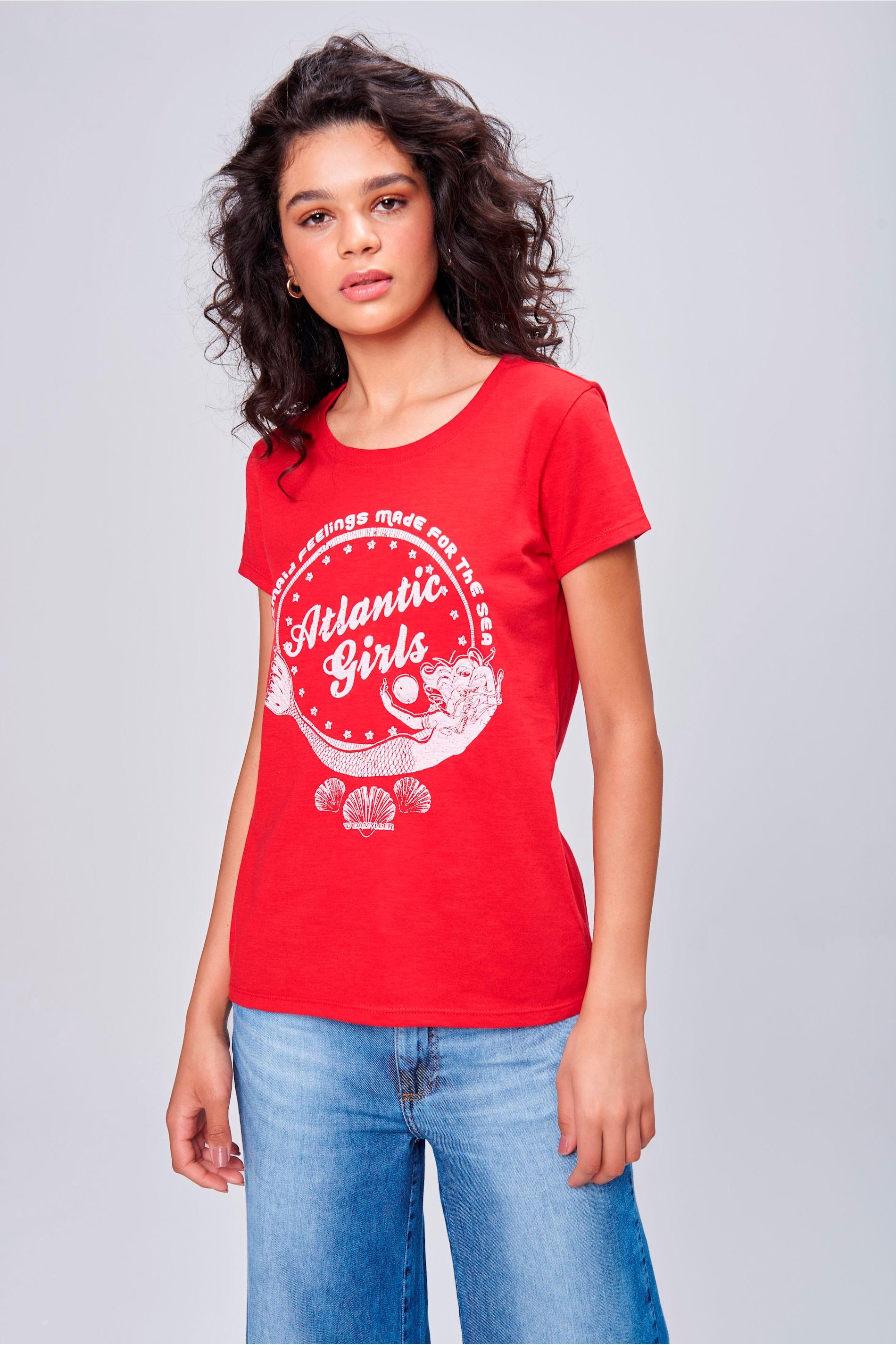 Camiseta Feminina Mermaid Feelings - Damyller 90222b8161bc4