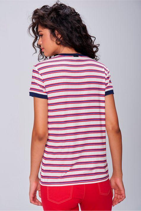 Camiseta-Feminina-Listrada-com-Ribana-Costas--