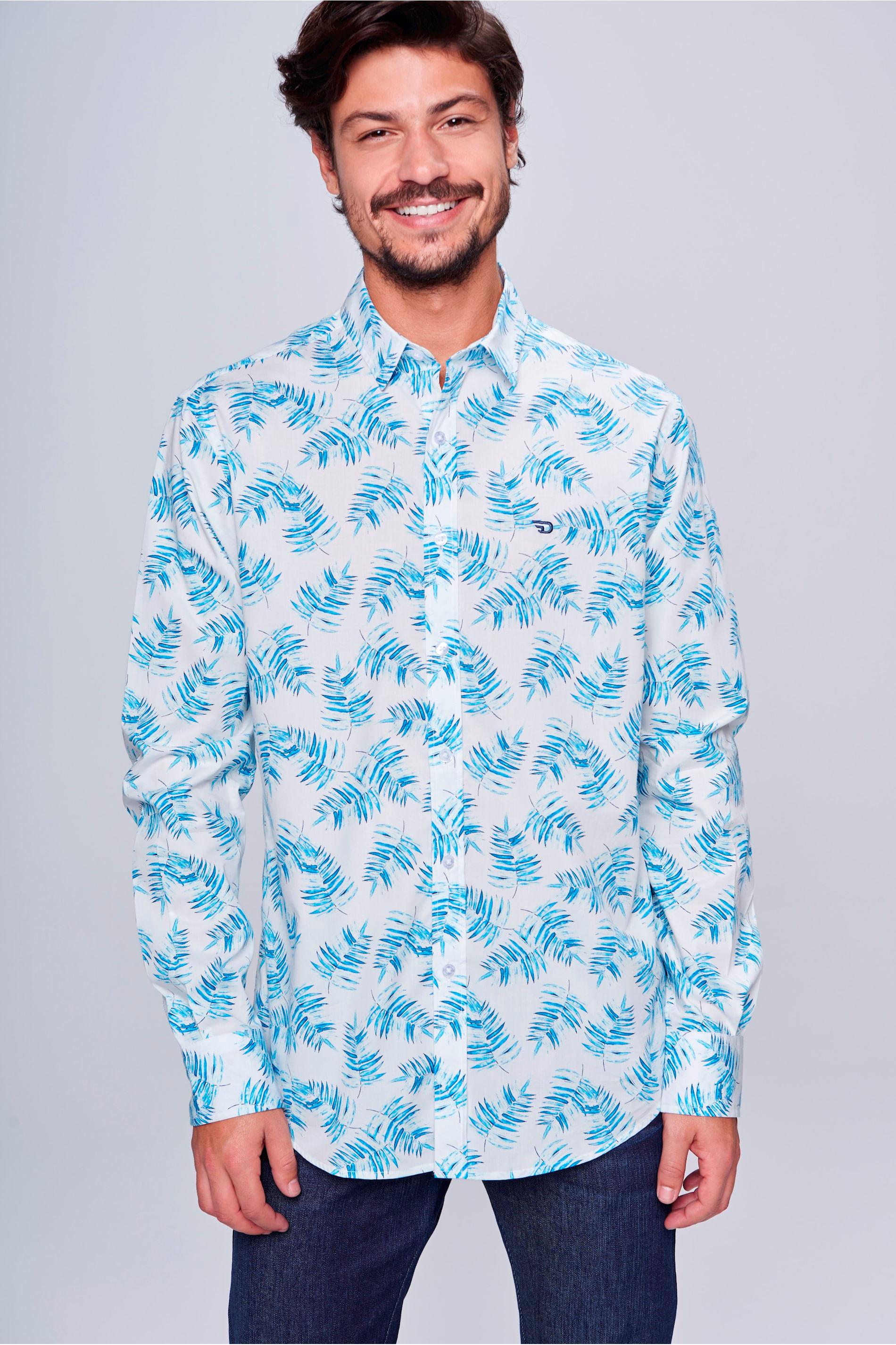 129a39d31d Camisa Social Estampada Masculina - Damyller
