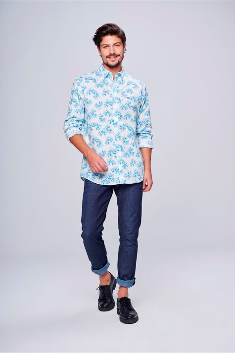 Camisa-Social-Estampada-Masculina-Frente--