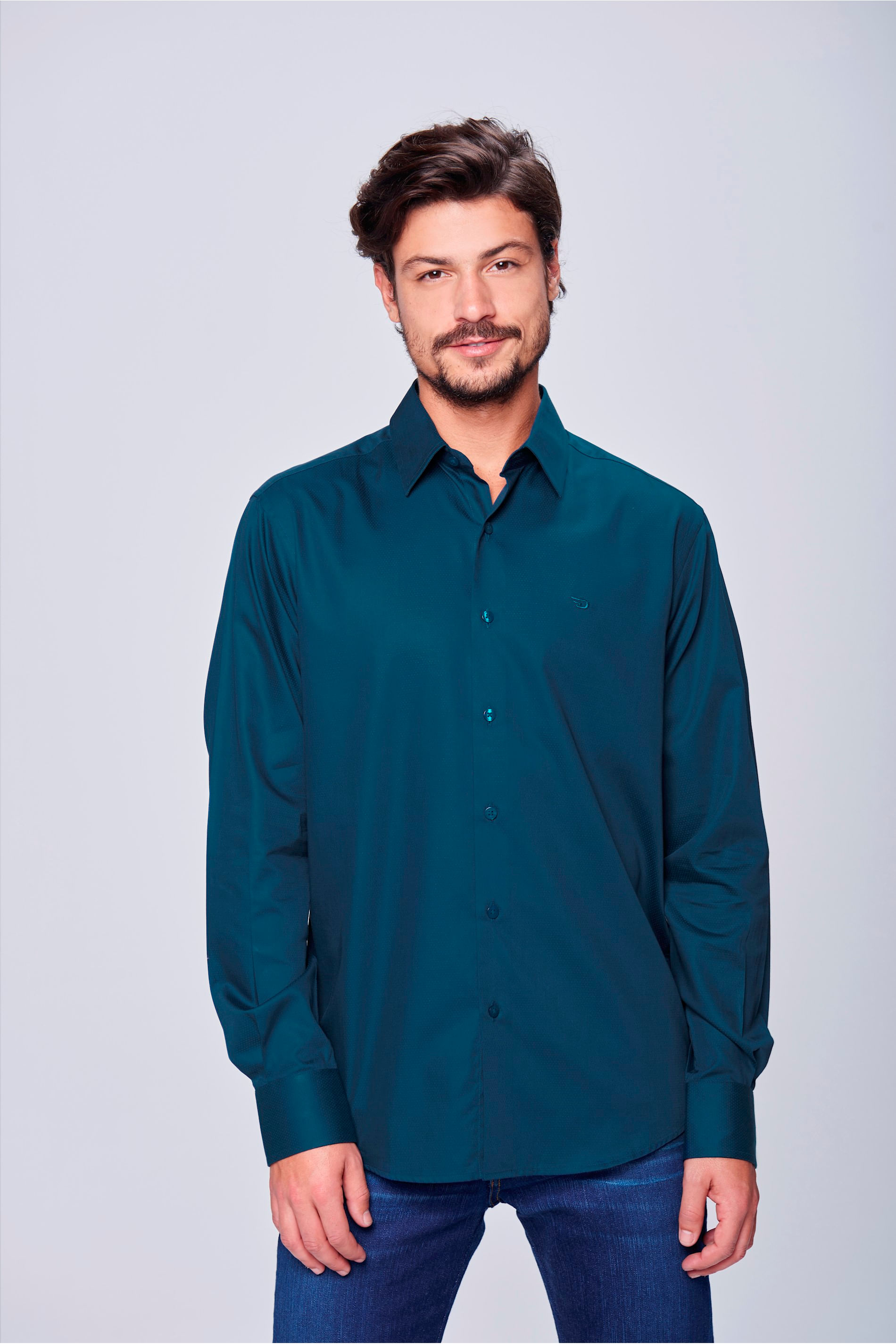 ef4880236d Camisa Social Masculina Algodão Peruano - Damyller