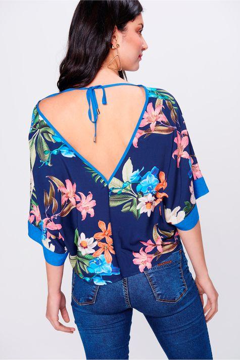 Blusa-Floral-com-Decote-V-Feminina-Costas--