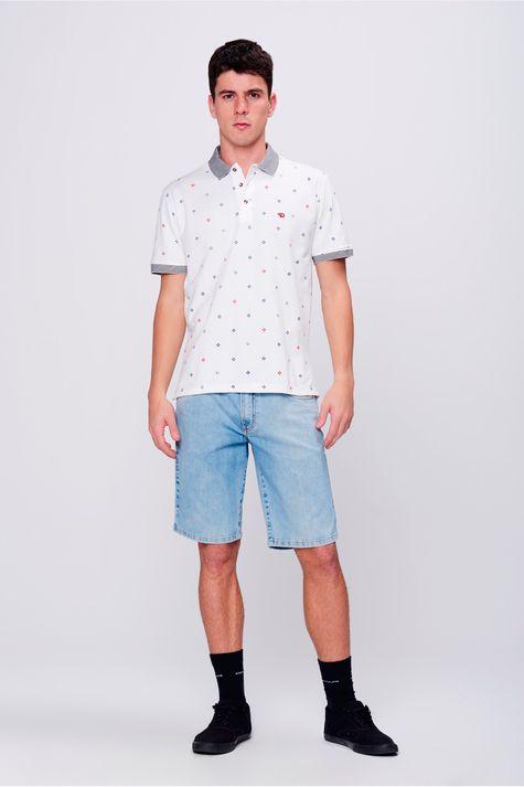 Camisa-Gola-Polo-Estampa-de-Repeticao-Detalhe-1--