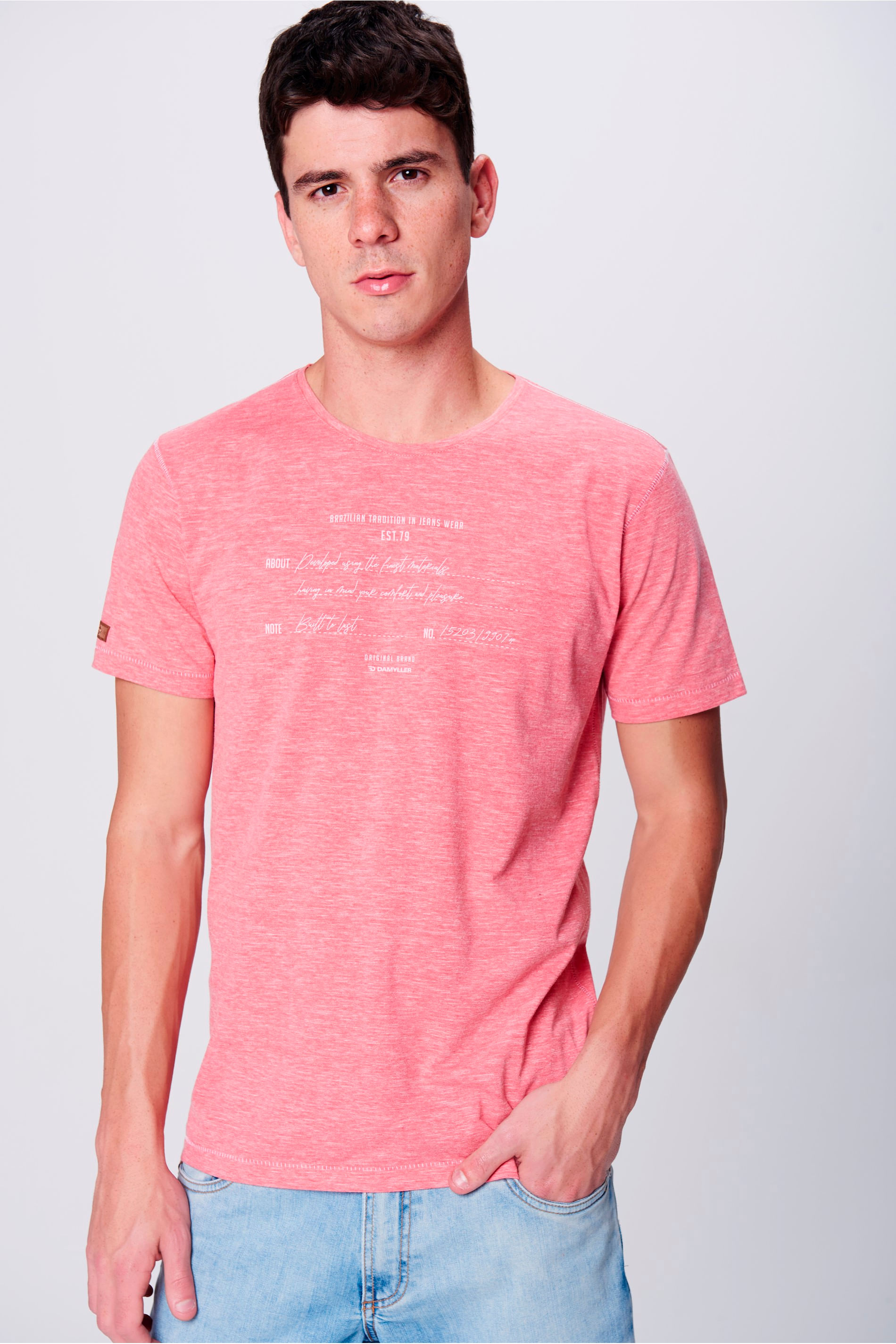 Camiseta Malha Devorê Masculina - Damyller c5067bbb84d4a