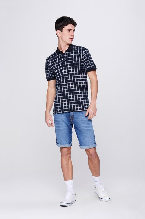 Look Elegante Camisa Gola Polo Xadrez - Damyller 6c045f0473dcd
