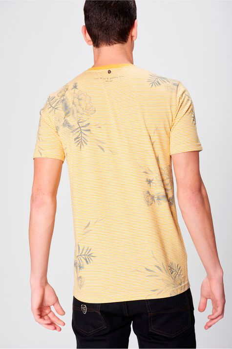 Camiseta-Listrada-com-Estampa-Floral-Frente--