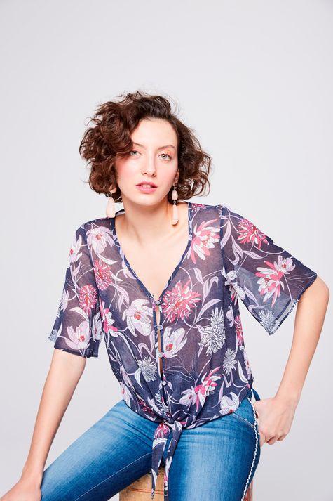 Blusa-Floral-Com-Amarracao-Feminina-Frente--
