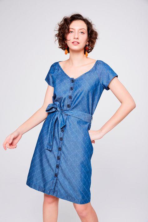 7dc9a4267 Moda Feminina - Vestido Solto PP Blue – Damyller