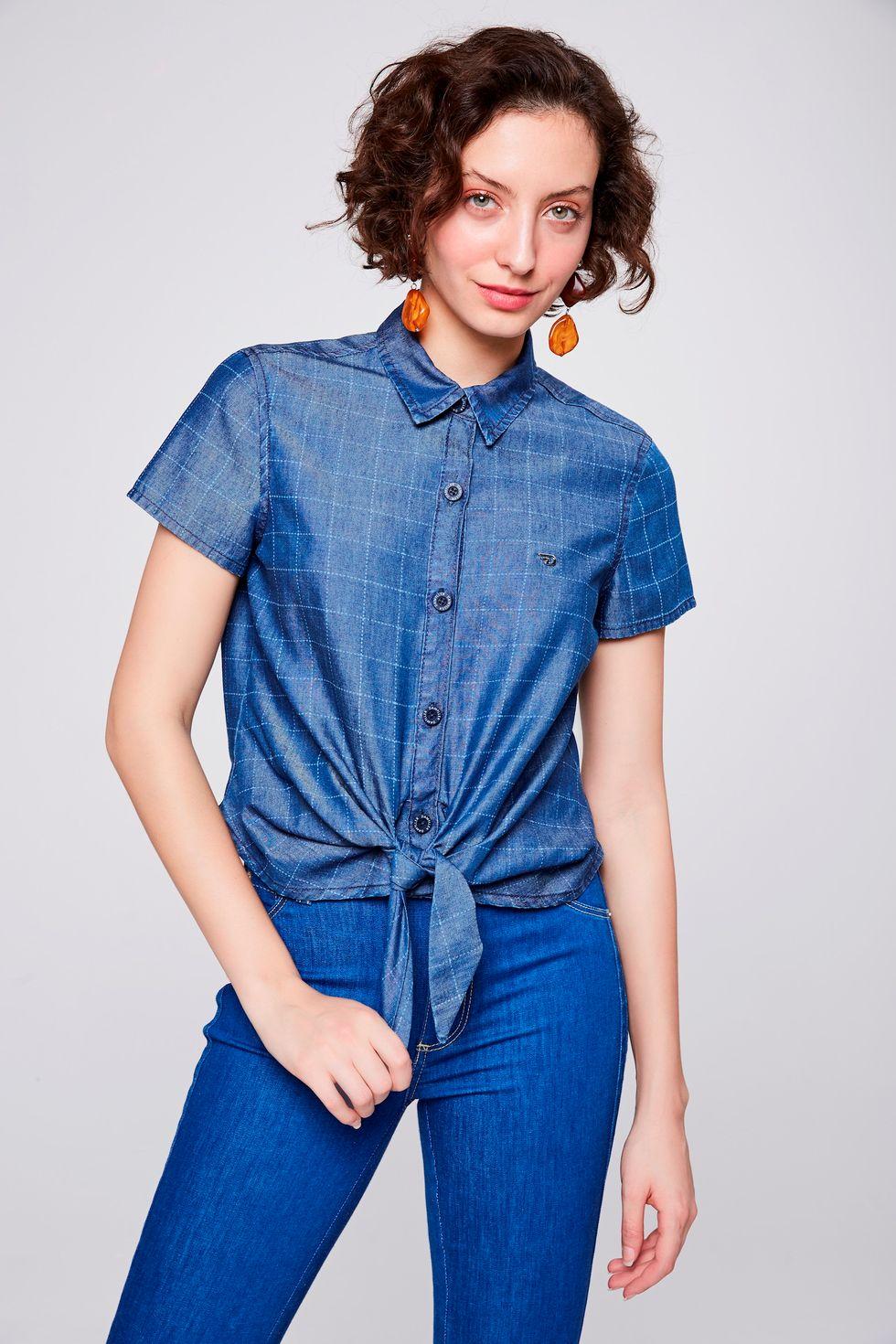 Camisa-Jeans-Xadrez-com-Amarracao-Frente--