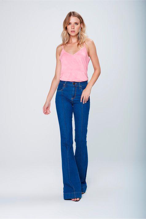 Calca-Flare-Jeans-Cintura-Alta-Feminina-Frente--