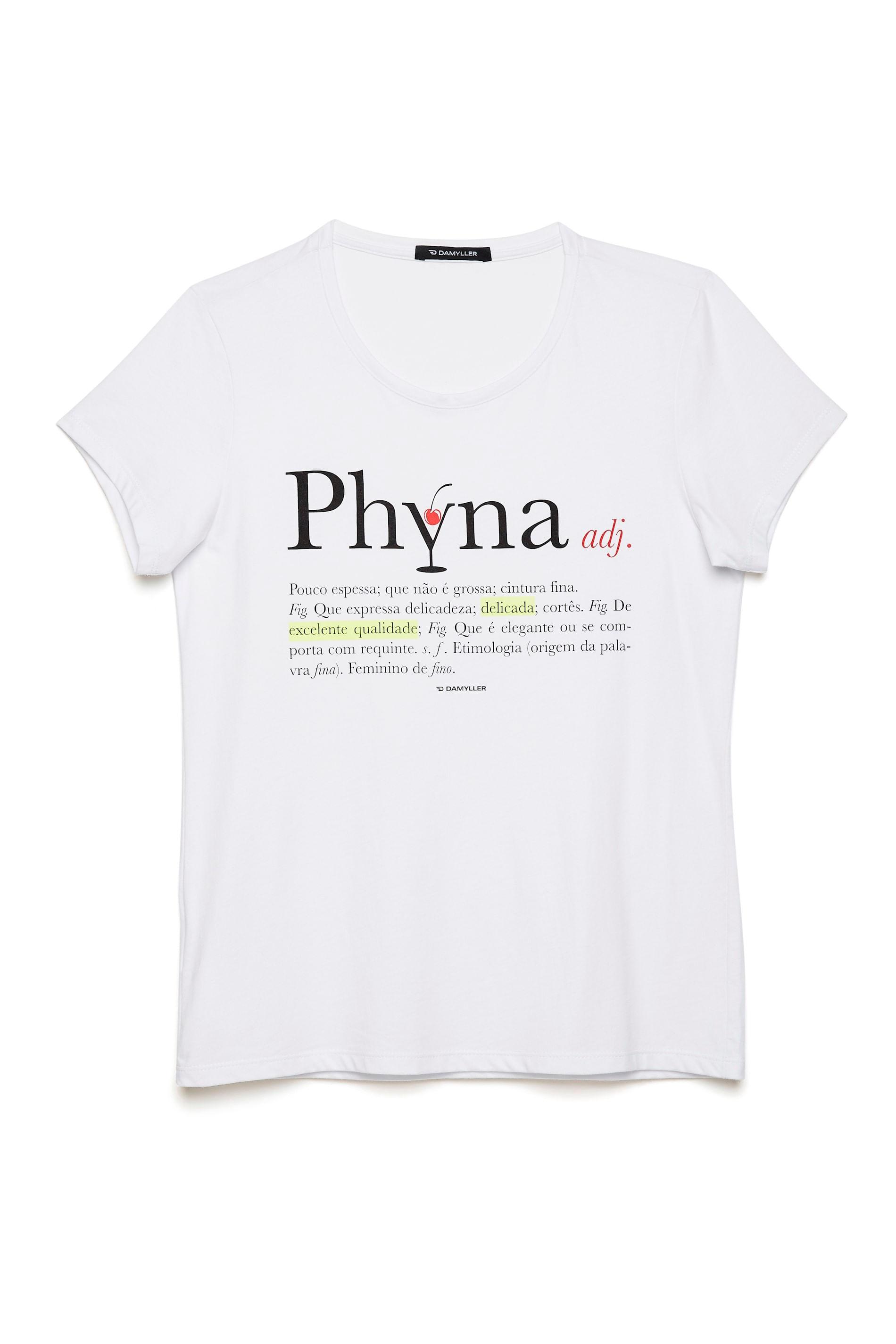 c4b7d5a8f Camiseta Estampa Phyna Feminina - Damyller