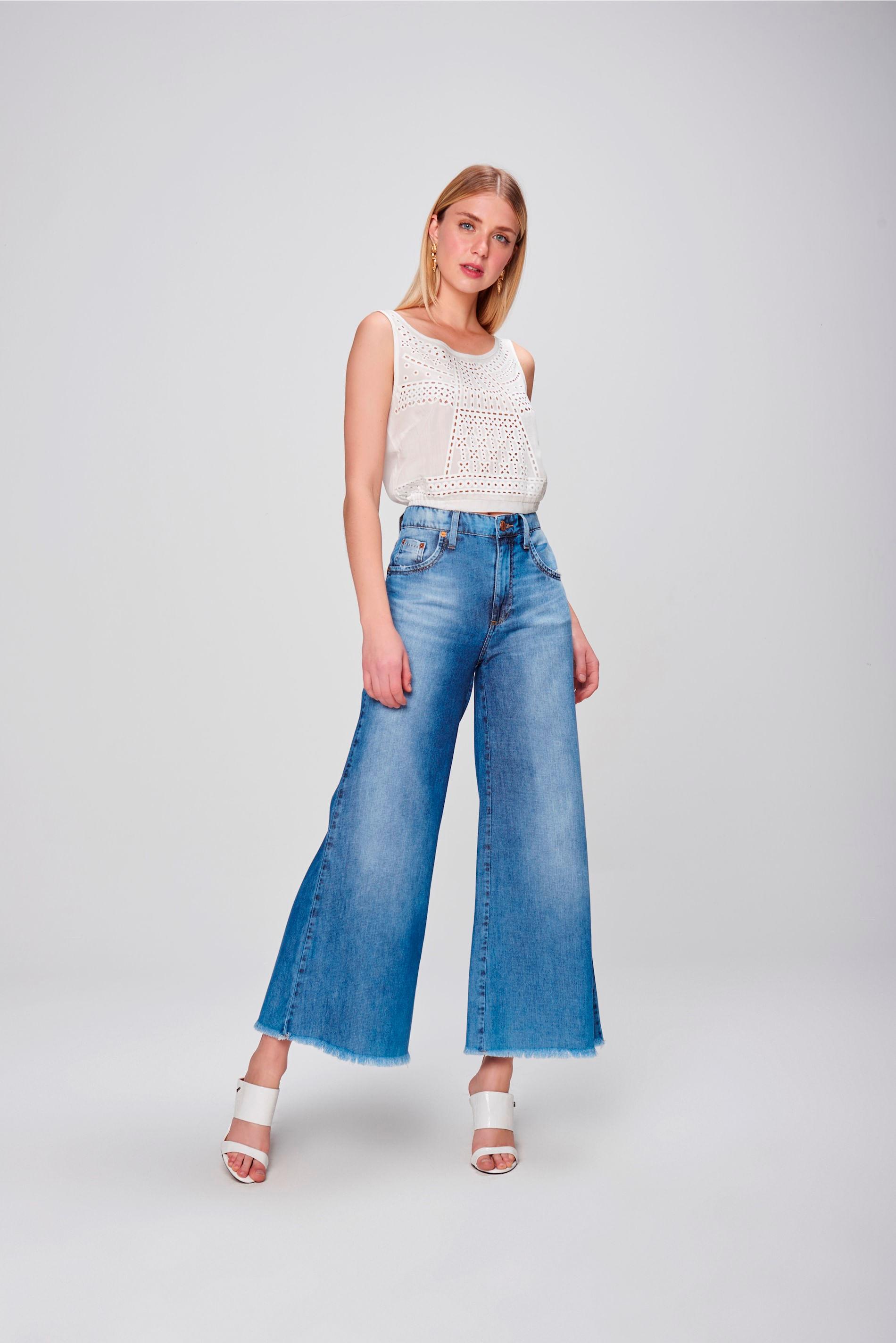 Resultado de imagem para pantalona jeans