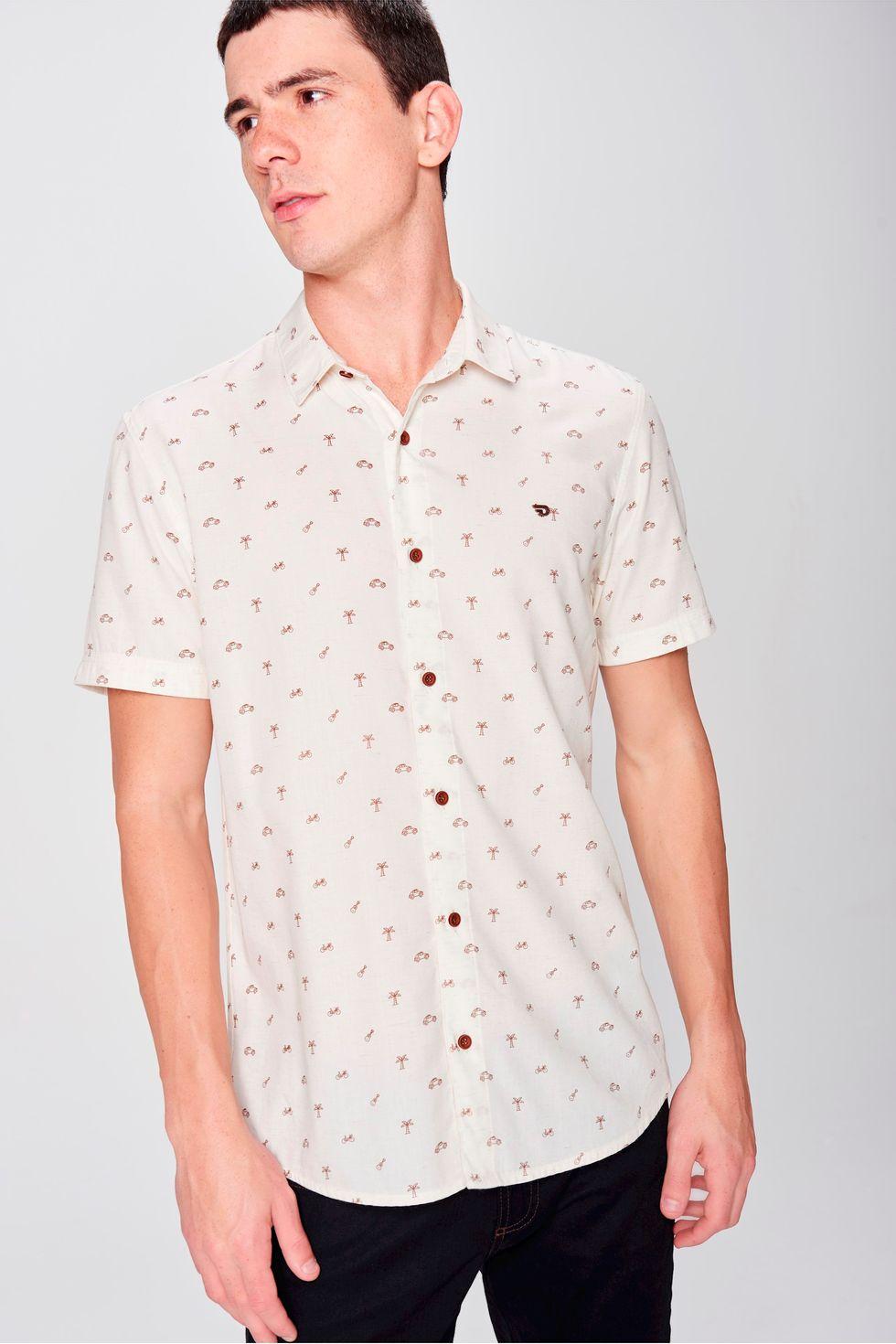 d2e41b656e92e Camisa Manga Curta Estampada Masculina - Damyller