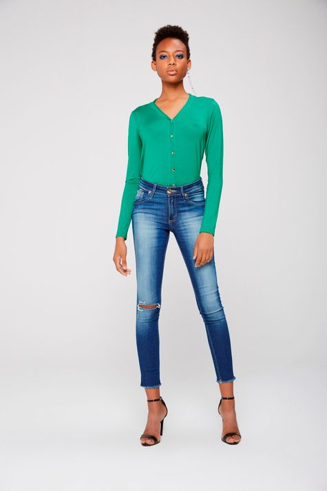Calca-Cropped-Jeans-Rasgado-Feminina-Frente--