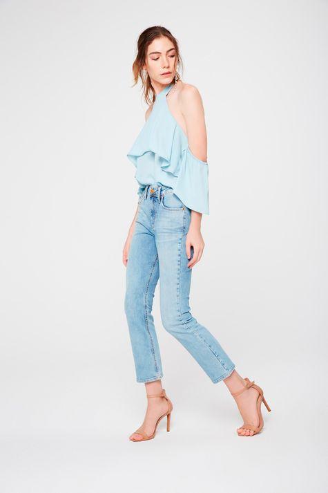 Calca-Cropped-Reta-Jeans-Claro-Feminina-Frente--