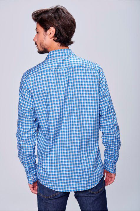 Camisa-Social-Xadrez-de-Algodao-Peruano-Costas--