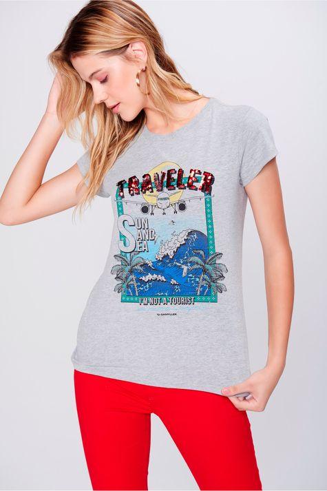 Camiseta-Malha-Mescla-Estampada-Feminina-Frente--