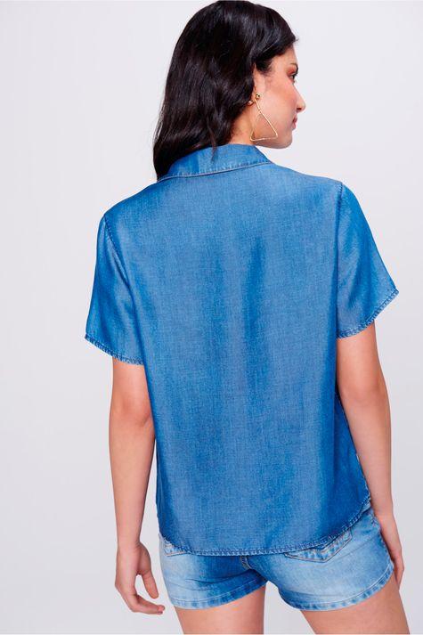 Camisa-Jeans-de-Manga-Curta-Feminina-Costas--