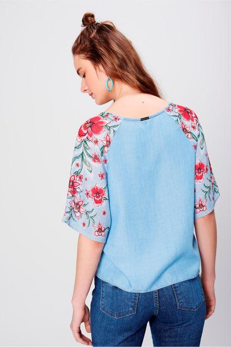 Blusa-Jeans-Feminina-com-Estampa-Floral-Costas--