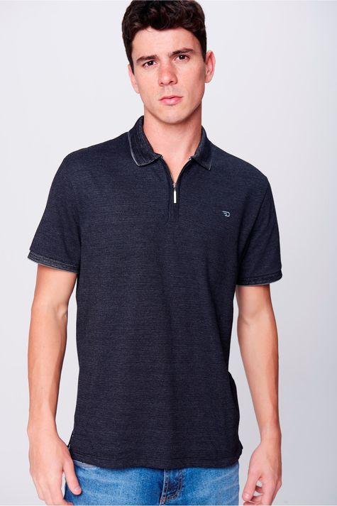 Camisa-Gola-Polo-com-Ziper-Masculina-Frente--