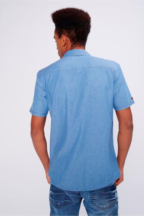 9c712da0f Camisa Jeans Masculina Bolsos Frontais - Damyller