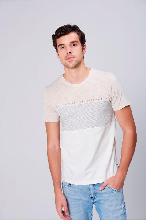 Camiseta-Masculina-Mistura-de-Tecidos-Frente--