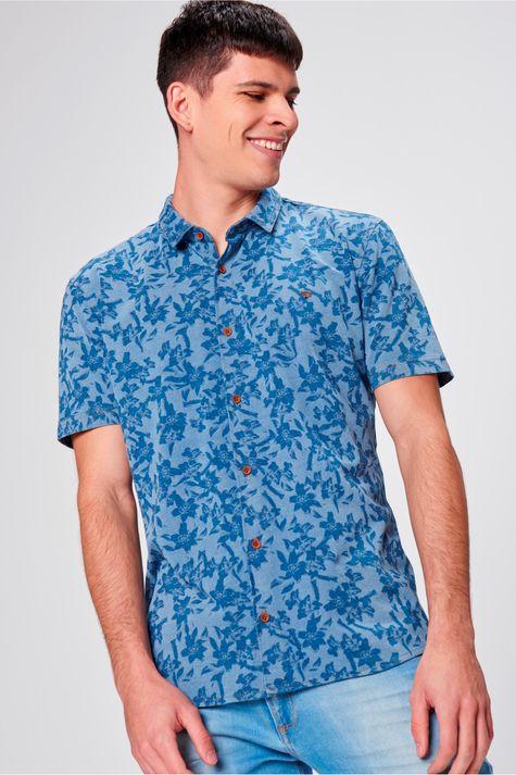 Camisa-com-Estampa-Floral-Masculina-Frente--