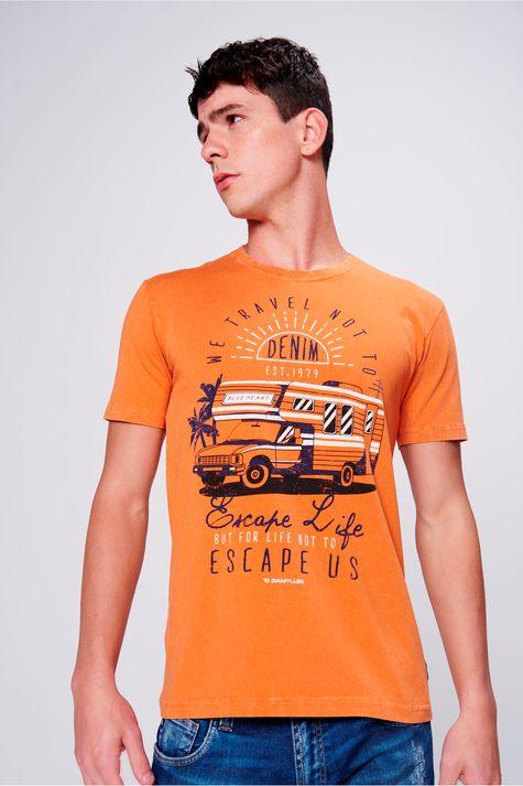 Camiseta-Fit-Tingida-Masculina-Frente--
