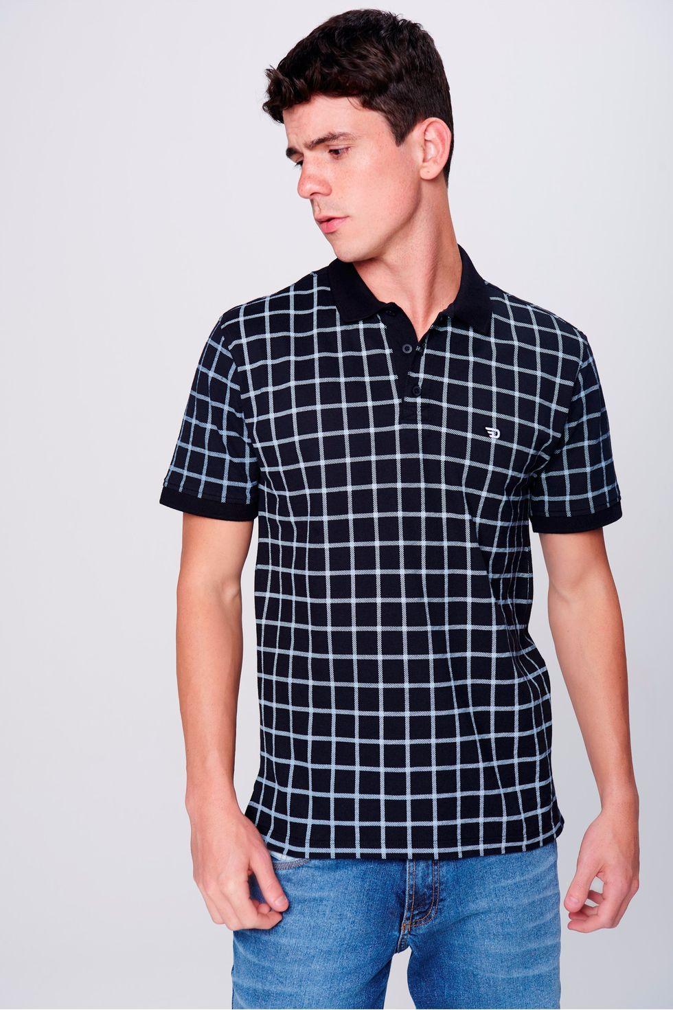 Camisa-Gola-Polo-Fit-Xadrez-Masculina-Frente--