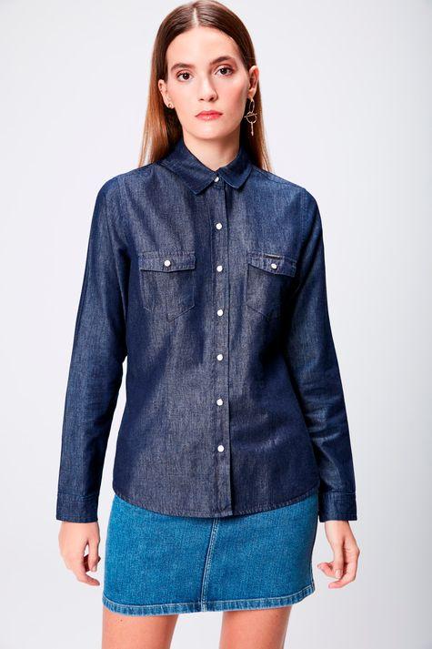 Camisa-Feminina-em-Jeans-Escuro-Frente--