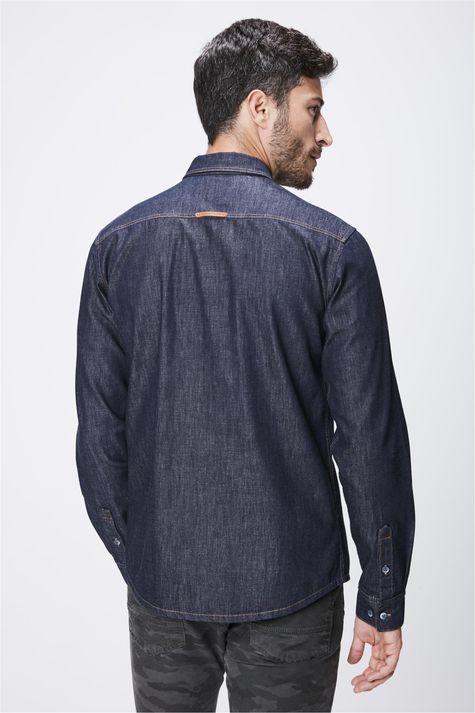 Camisa-Jeans-Escuro-Masculina-Costas--