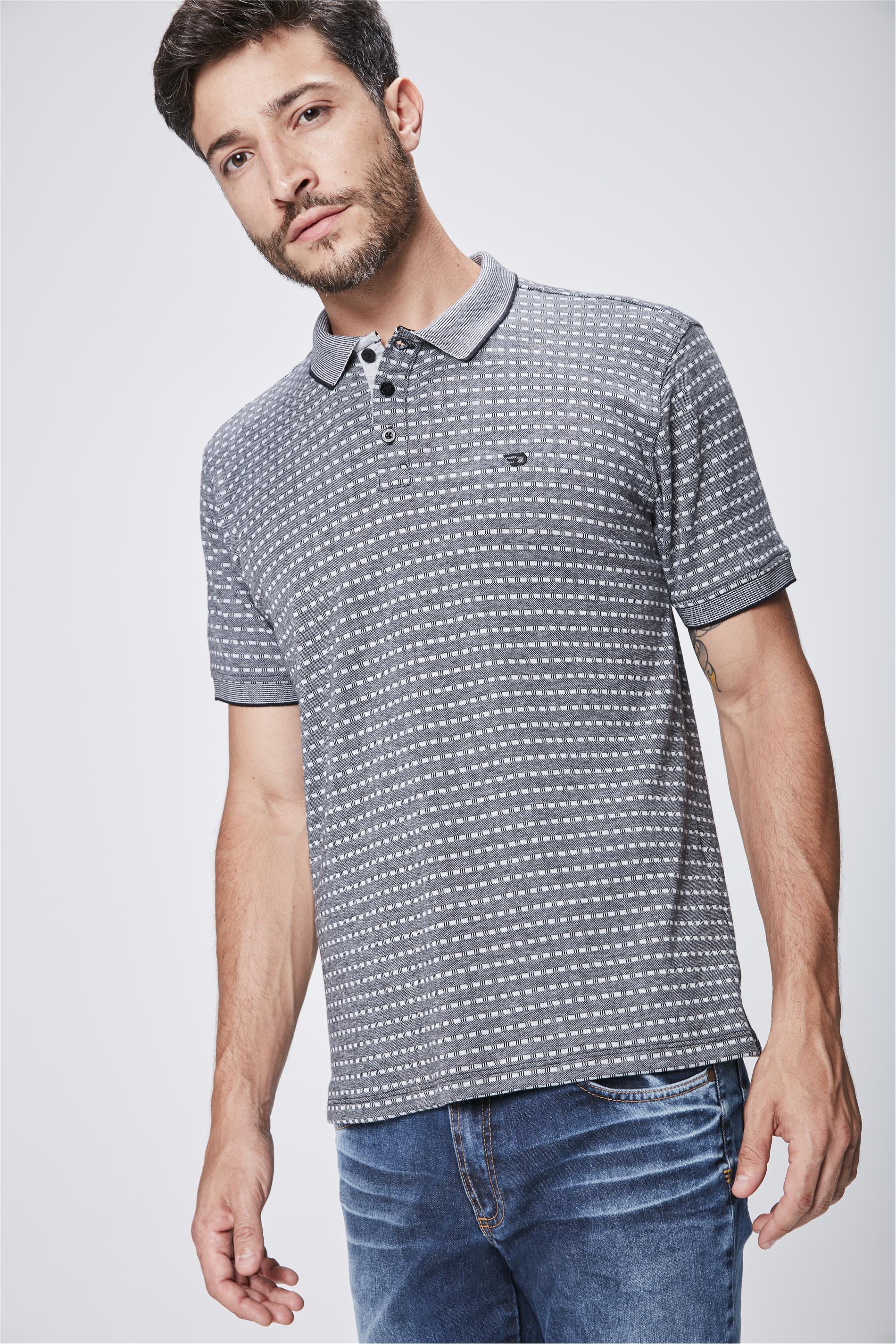 3e8e9c79b5 Camisa Polo com Detalhes Masculina - Damyller