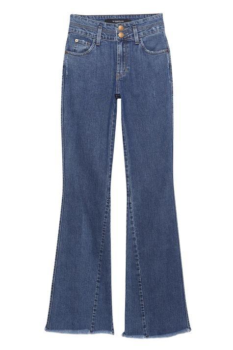 Calca-Jeans-Flare-com-Recortes-Feminina-Detalhe-Still--