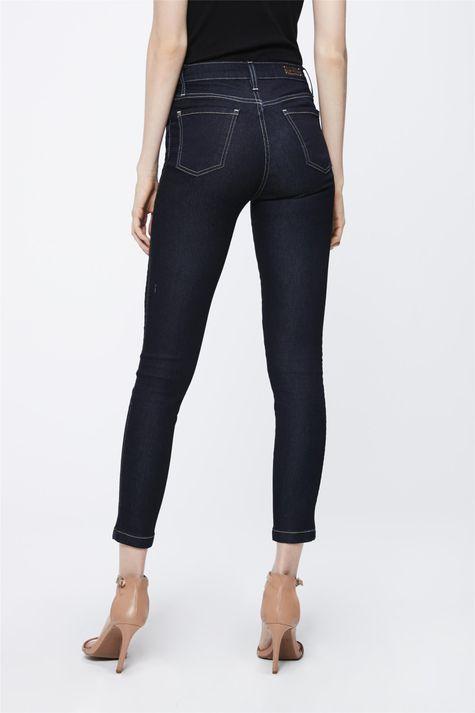 Calca-Jeans-Escuro-com-Cintura-Alta-Costas--