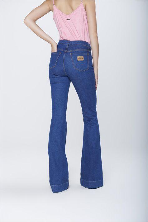 Calca-Flare-Jeans-Cintura-Alta-Feminina-Costas--