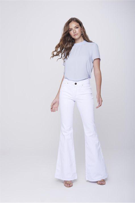 5b8e5e8af Calça Flare: Jeans, Cintura Alta, Branca, Preta e Mais | Damyller