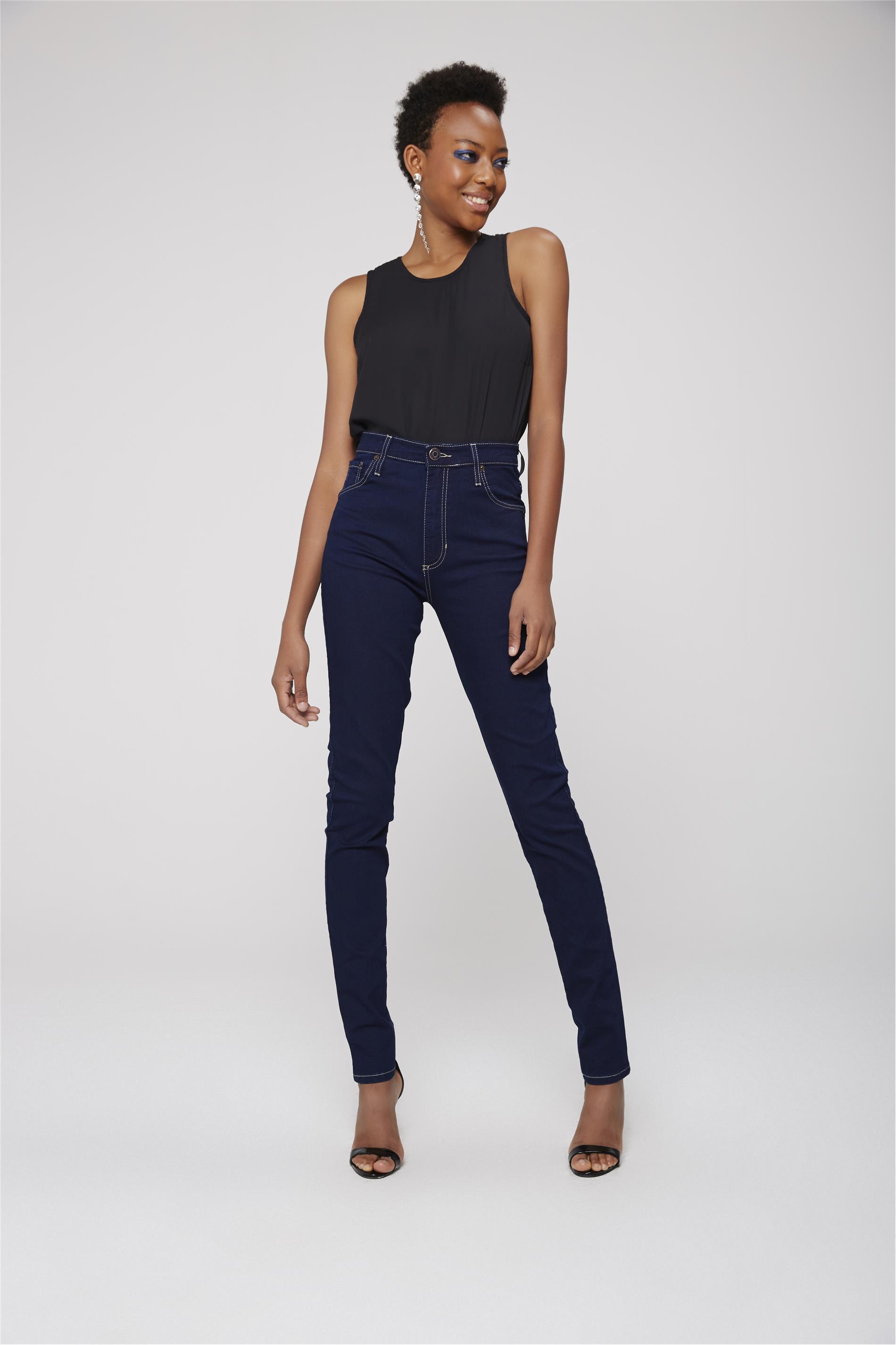 a20ca7d45b3c Calça Jegging Jeans de Cintura Altíssima - Damyller