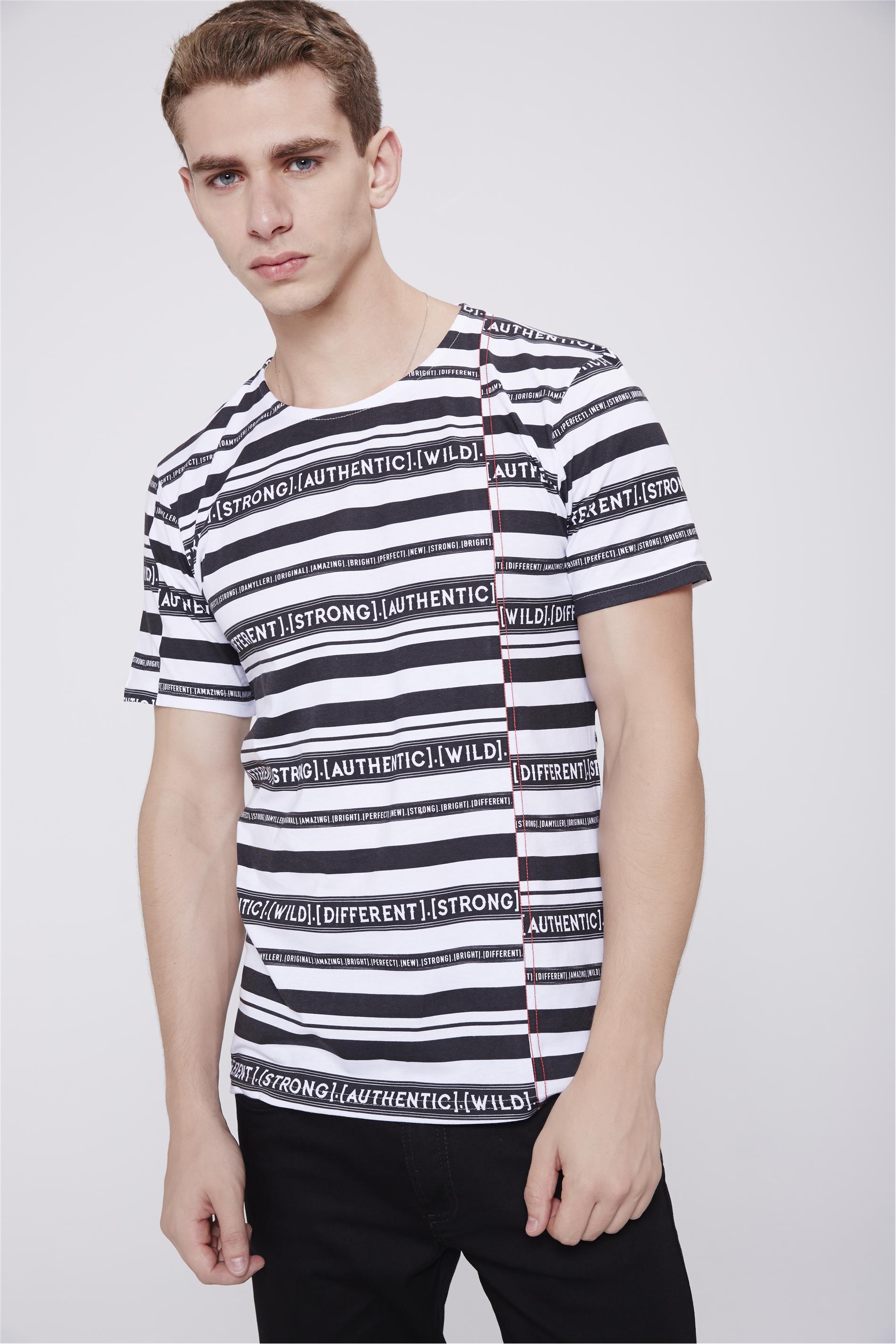 ebe7902f3 Camiseta Listrada Masculina - Damyller