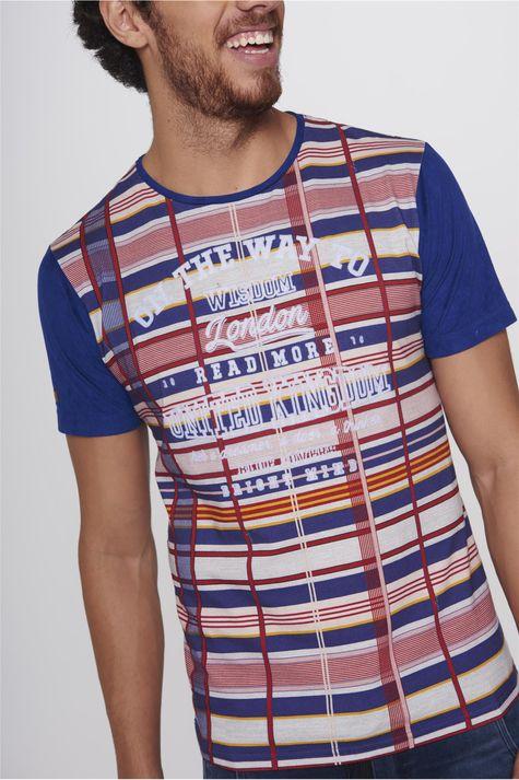 Camiseta-Xadrez-Masculina-Detalhe--