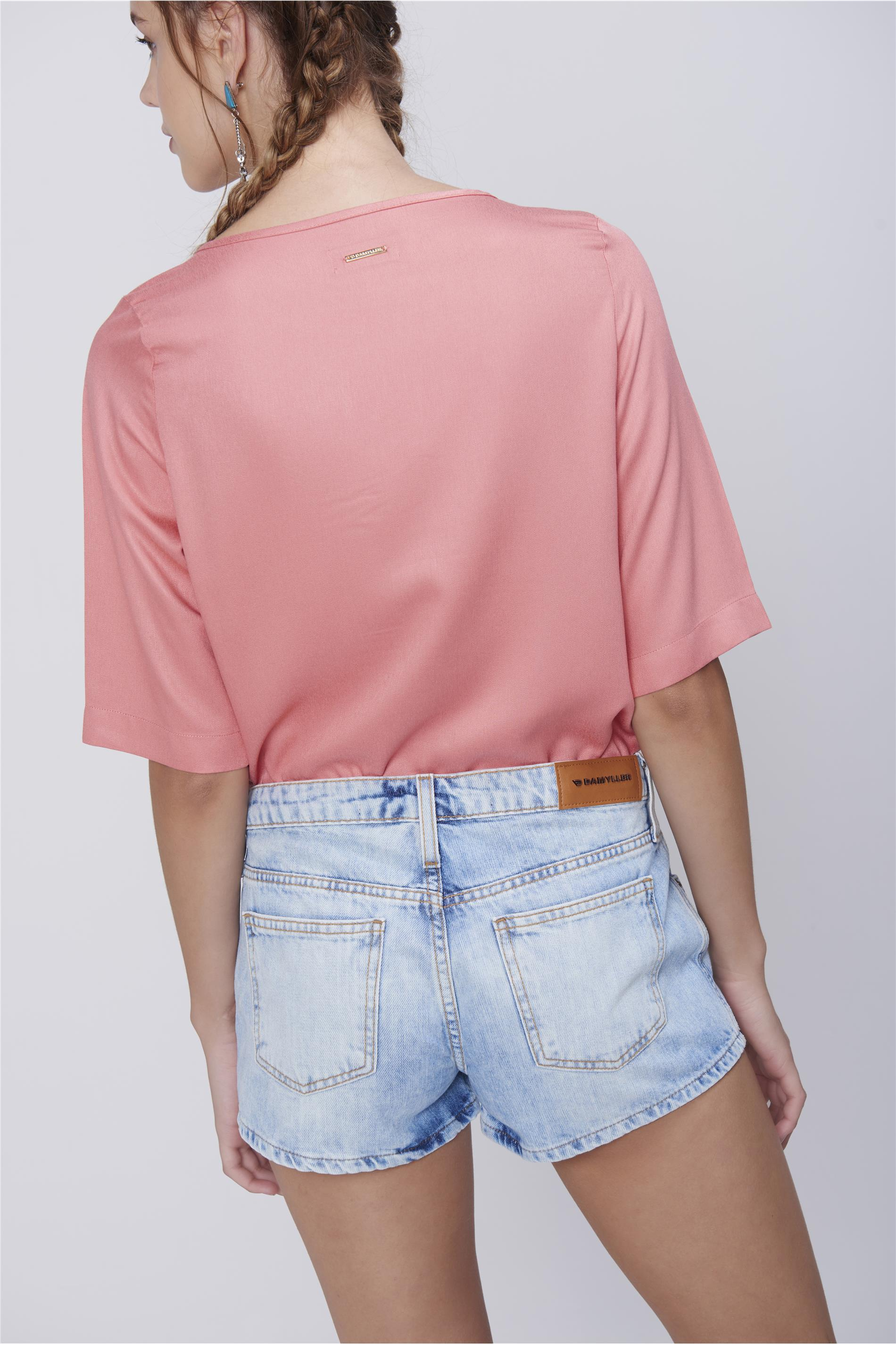 0c791ce89 Short Boyfriend Jeans Claro - Damyller