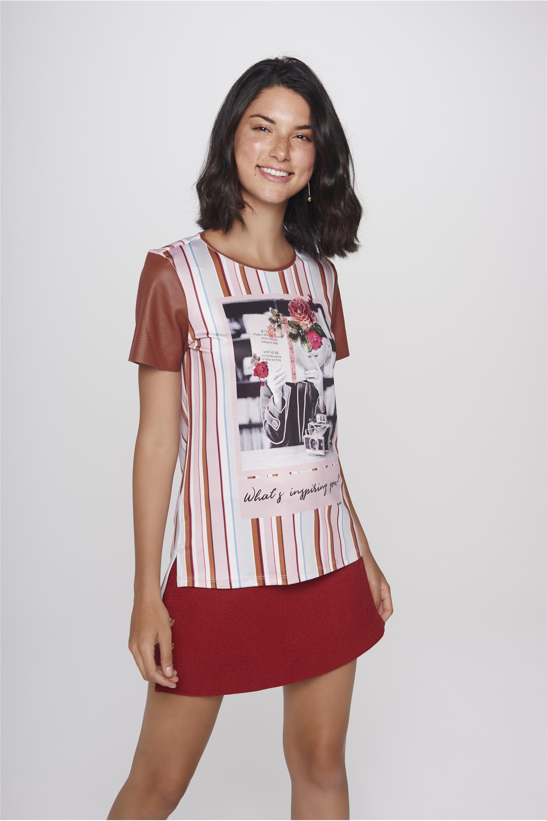 bb42d2976f Damyller · Moda Feminina · Blusas · Camiseta. abrir
