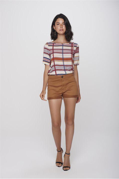 Shorts-Color-Cintura-Alta-Feminino-Detalhe-1--
