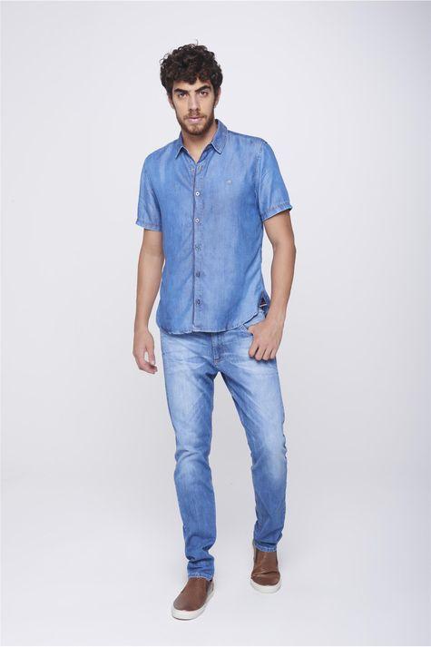 Camisa-Jeans-Manga-Curta-Masculina-Detalhe-1--