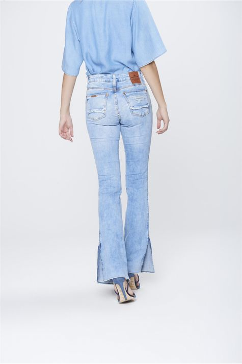 Calca-Boot-Cut-Feminina-Jeans-Destroyed-Costas--