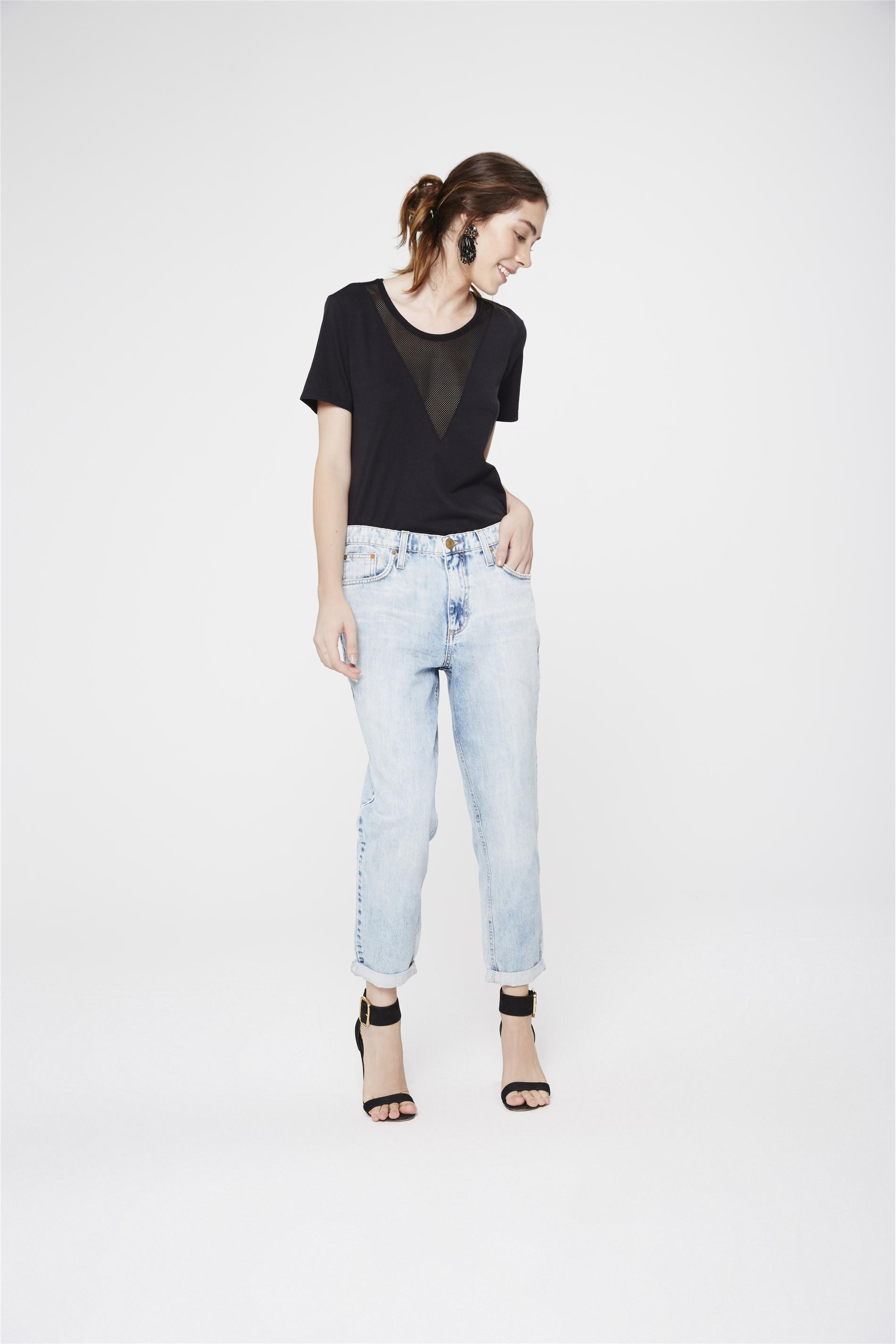 01e089004 Calça Boyfriend Jeans Feminina - Damyller